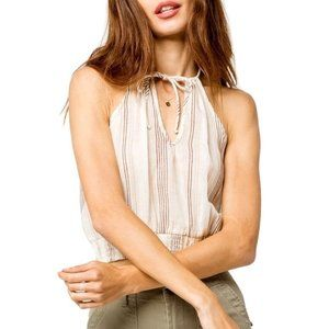 Sky and Sparrow High Neck Smocked Crop Top M | L